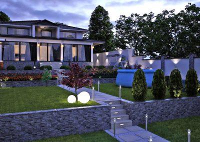 Градинско озеленяване и оформяне на дворно място към жилище