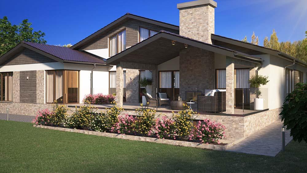 Семейна къща с двор